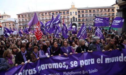 Toledo se suma de manera multitudinaria a la manifestación del 8M para reivindicar la igualdad real y efectiva entre mujeres y hombres