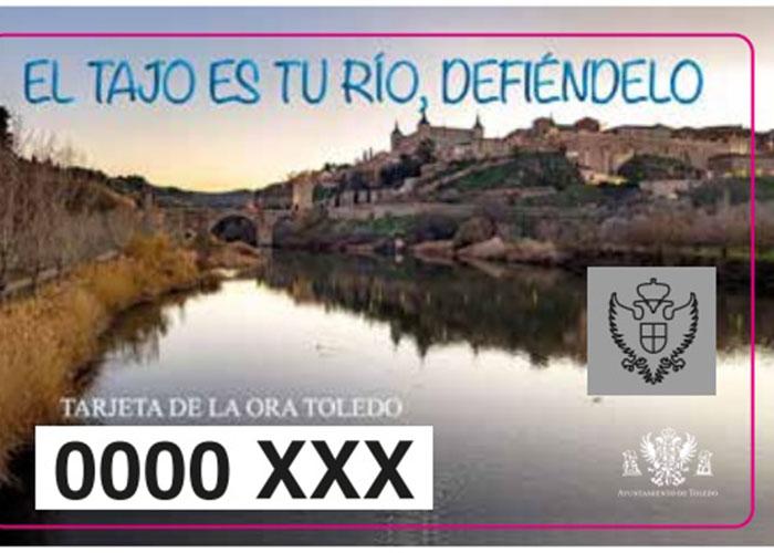 La tarjeta de la ORA que aplica la tarifa especial a residentes en las zonas azul y naranja se dedica este año a la defensa del río Tajo
