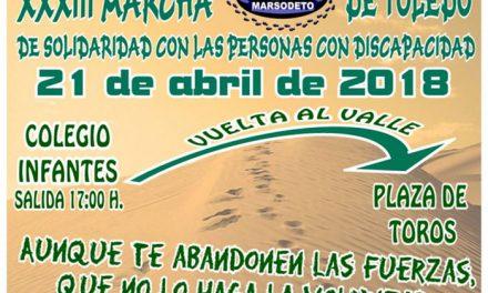 Toledo acoge este sábado 21 de abril la XXXIII Marcha de Marsodeto que cuenta con la colaboración del Ayuntamiento