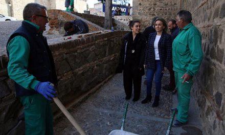 El Plan de Recuperación de Muros de Mampostería llega al entorno de Santiago del Arrabal dando respuesta a demandas ciudadanas