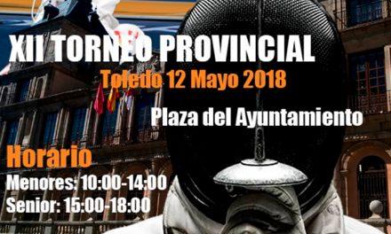 La plaza del Ayuntamiento se convierte este sábado en escenario del XII Torneo Provincial de Esgrima con cerca de 70 espadachines
