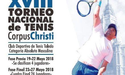 La final del XVIII Torneo Nacional de Tenis 'Corpus Christi' se disputa este domingo gracias a la colaboración del Ayuntamiento