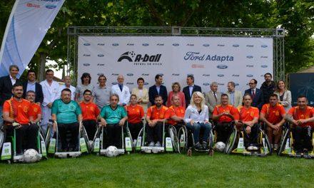 El Ayuntamiento respalda la presentación nacional del A-Ball, una nueva modalidad deportiva de fútbol en silla de ruedas