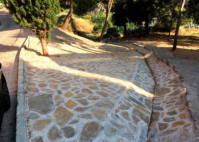 El Ayuntamiento finaliza las obras para estabilizar el talud de la bajada de Santa Ana que da acceso de la senda ecológica