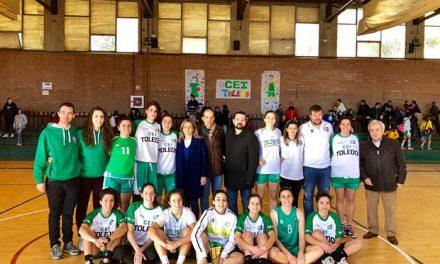 La alcaldesa felicita a las integrantes del CEI Toledo, subcampeonas de la Copa de Primera Nacional Femenina de Baloncesto disputada en la capital