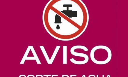 Previstos dos cortes de suministro de agua para este lunes 14 en Santa Bárbara y San Bernardo