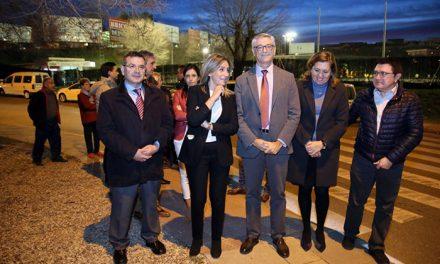 La glorieta del Salto del Caballo estrena iluminación led gracias al acuerdo alcanzado por la alcaldesa y el Ministerio de Fomento