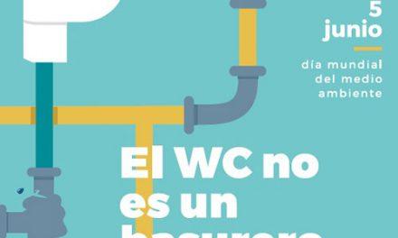 Ayuntamiento y Tagus alertan de las consecuencias de arrojar residuos al inodoro con motivo del Día Mundial del Medio Ambiente