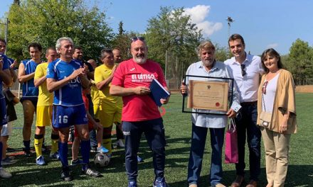 El Ayuntamiento participa en el homenaje a Manolo Rojas por su dedicación a la Liga de Veteranos de Toledo