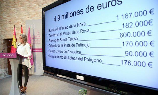 La alcaldesa anuncia 5 millones de euros en inversiones para proyectos que mejorarán la calidad de vida de los toledanos