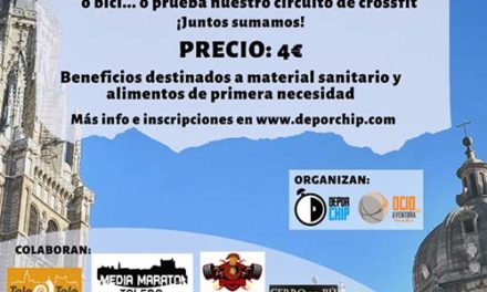 Los toledanos están llamados a una cita deportiva solidaria desde sus casas el próximo 26 de abril para hacer frente al Covid-19