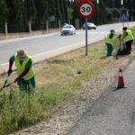 El Ayuntamiento avanza con las labores de limpieza y desbroce de espacios públicos en todos los barrios de Toledo
